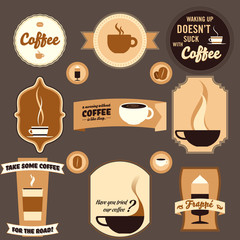 Vintage Coffe Design Elements