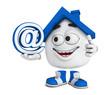 Kleines 3D Haus Blau - At Symbol
