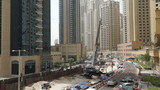 Dubai construction Site Tram Work to right site