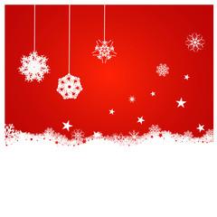 Fond décoratif rouge pour Noël