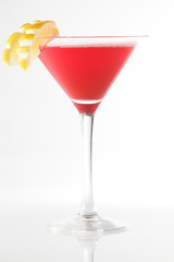 fresh cocktail on a white background