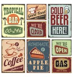 Vintage style signs