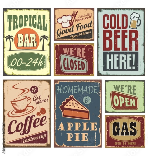 Vintage style signs - 46474261
