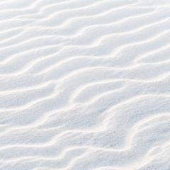 Nordseestrand im Winter, Sandwellen, Küste, Relief