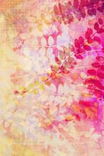 Vackra, konstnärliga med naturliga blad