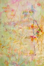 Belle, délicate, artistique avec des feuilles