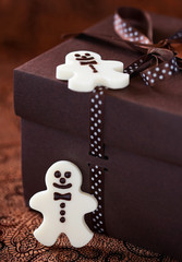 White chocolate christmas candy man