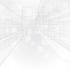 Perspective outline drawing background.