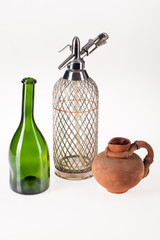 Stil Life With Bottle, Siphon And Ceramic Jarl