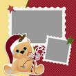 Cute christmas frame template