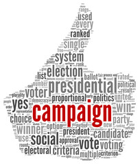 Campaign for president concept
