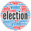 Election concept in word cloud