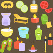Beauty tools, Spa Icons, Relaxation, Massage