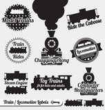 Vector Set: Train and Locomotive Labels and Stickers