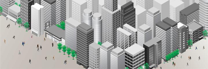 都市風景 / 人々