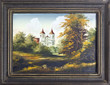 Catholic church oil painting