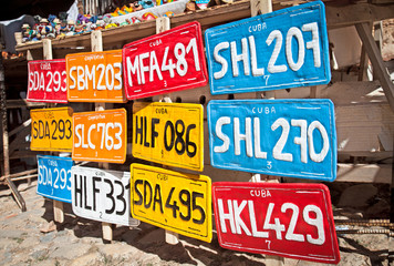 Traditional handcrafted Vehicle registration plates  for sale in