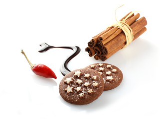 Chocolate with chilli and cinnamon