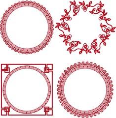 chinese ornamental frames