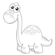 illustration of Cartoon dinosaur outline