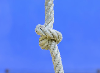 Closeup Rope with knot