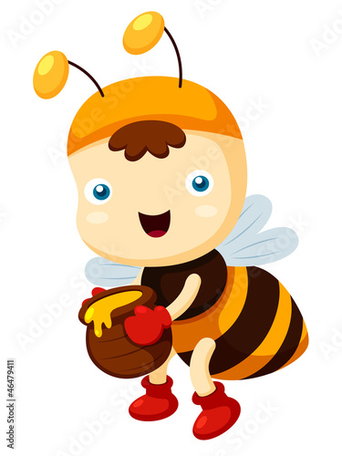 illustration of Cartoon bee Vector