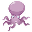 illustration of Cartoon octopus Vector