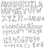 Fototapety Sketch alphabet