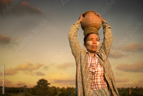 traditional myanmar farmer