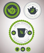 Set of tea lables. Vector