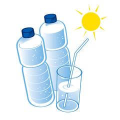 Spring Water plastic bottle health diet drink glass
