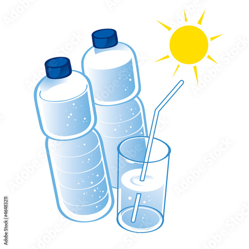 Spring Water plastic bottle health diet drink glass