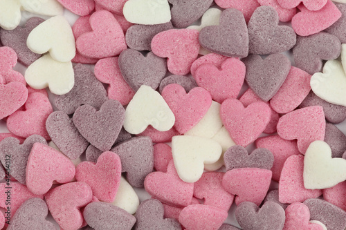 Colourful sugar heart background