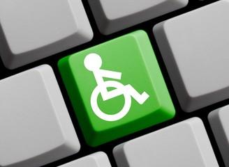 Rollstuhl - Symbol auf Computer Tastatur