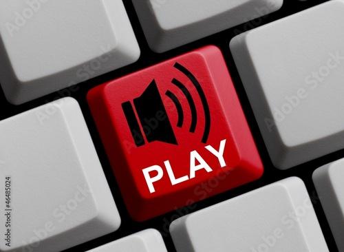 Play - Lautsprechersymbol auf Tastatur