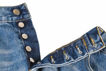 Pantalones vaqueros con bragueta de botones abierta