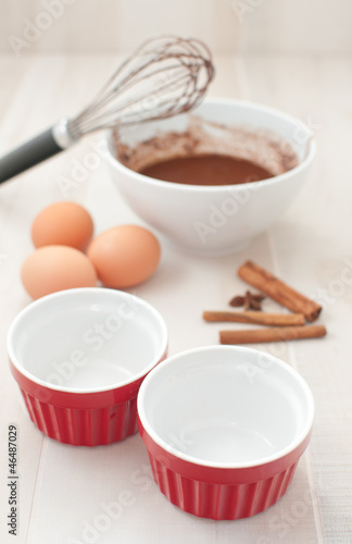 Cooking chocolate cakes ingredients
