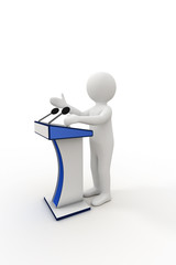 3d person giving a speech