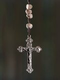 Rosary cross closeup