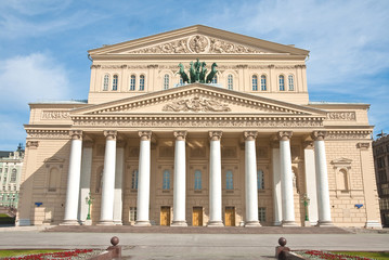 The Bolshoi Theater in Moscow after reconstruction, Russia