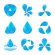 set of abstract icon waters designs