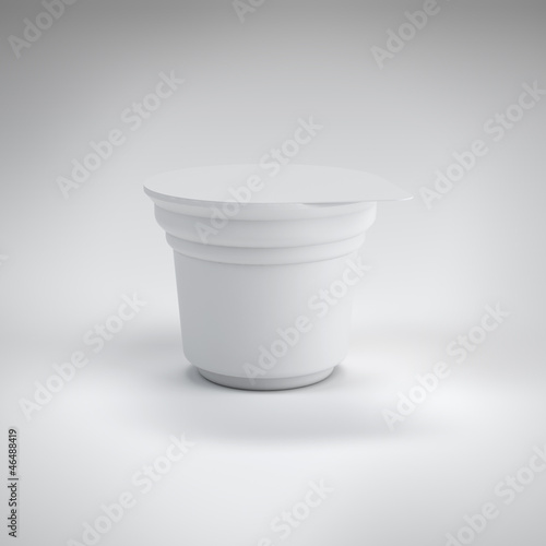 White food plastic container