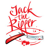 Jack the Ripper maniac killer razor blade blood drop splash