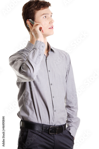 Businessman calling by cellphone