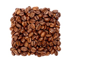 Coffee beans in a square