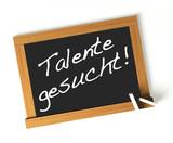 Talente gesucht! Button, Icon poster