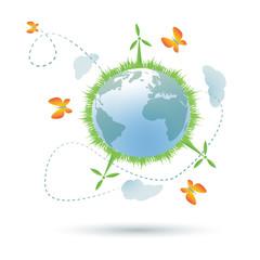 Eco-planet symbol