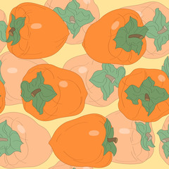 seamless pattern with persimmon