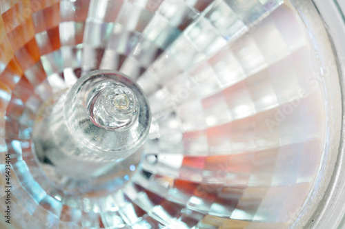 Halogen Light Bulb Close-Up