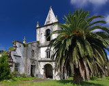 Church at Faial island, Azores destroyed by earthquake